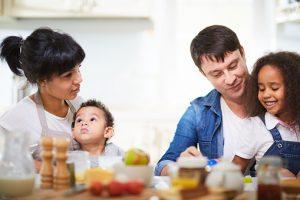 Mixed-race family