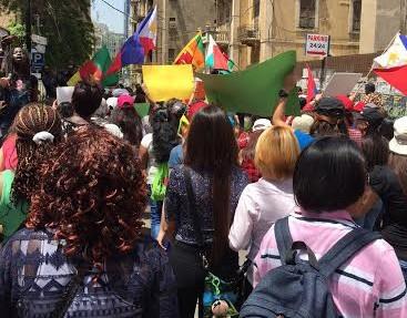 Manifestation à Beyrouth pour les droits des employés de maison