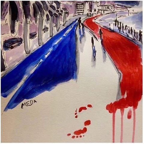 La France endeuillée