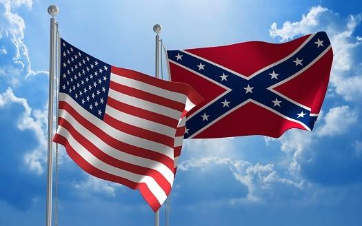 L'Amérique et ses deux drapeaux