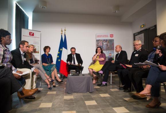 François Hollande inaugure la restauration de la Cité de Refuge