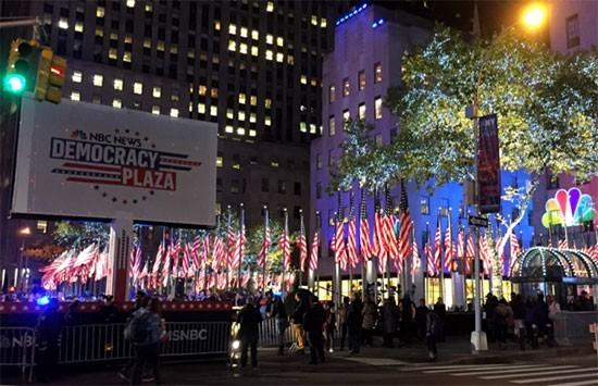 Nuit électorale à Manhattan, New York
