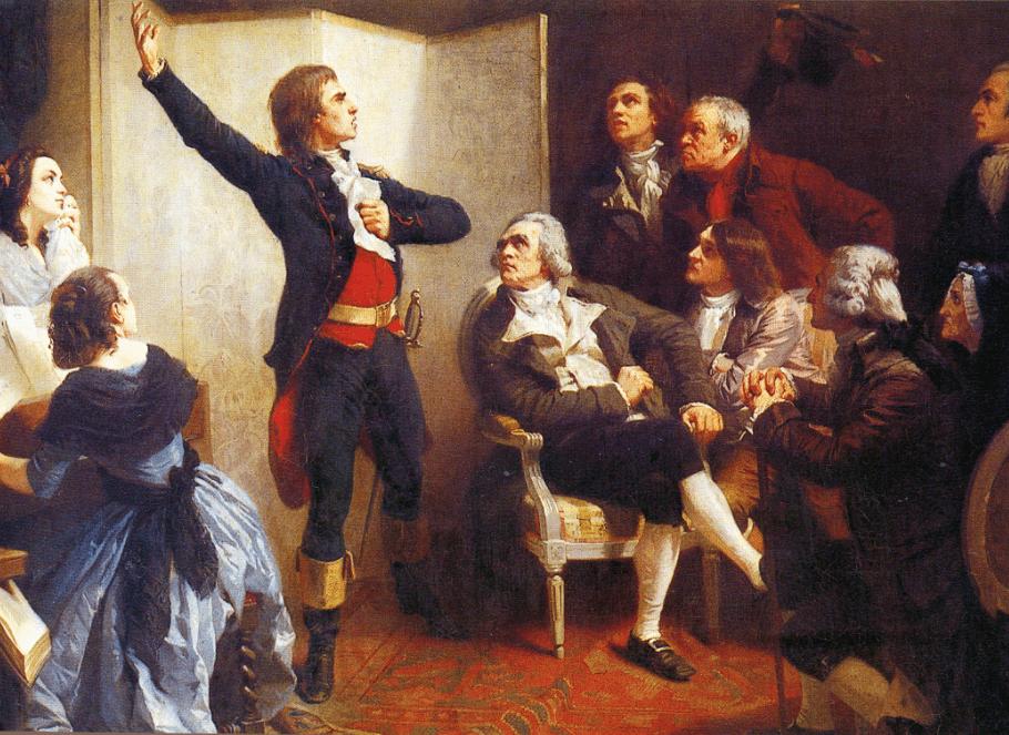Tableau peint par Isidore Pils, qui figure Rouget de Lisle chantant La Marseillaise chez Dietrich, maire de Strasbourg, le 26 avril 1792.