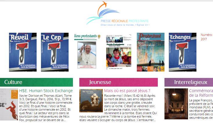 La Presse régionale protestante online !