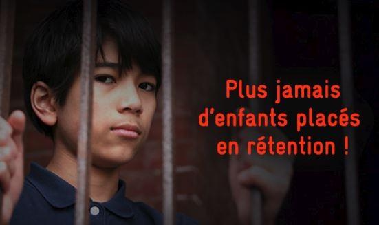 Mettre fin à l'enfermement des enfants en rétention
