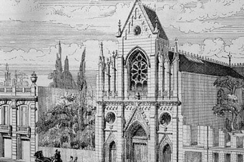 Le temple de l'Étoile à Paris