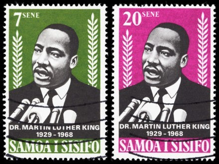 Martin Luther King en timbres