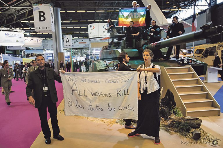 Mobilisation contre la vente d'armes