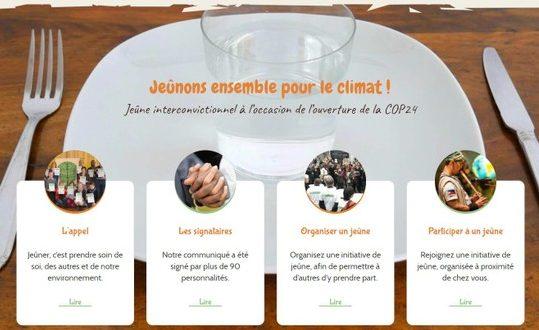 « Jeûne pour le climat » à l'occasion de la COP24