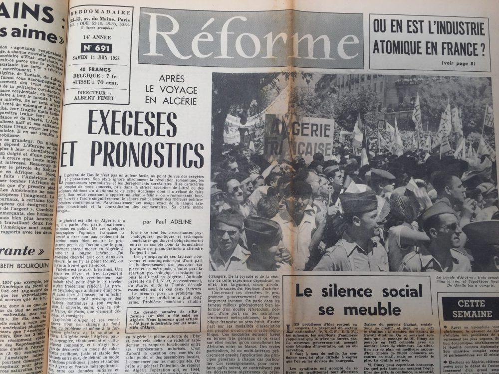"""Quand de Gaulle a dit : """"Je vous ai compris"""""""