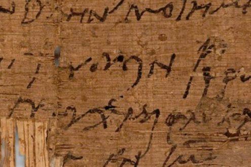 Un papyrus chrétien égyptien retrouvé