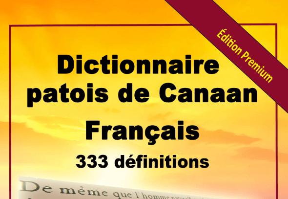 Dictionnaire patois de Canaan français
