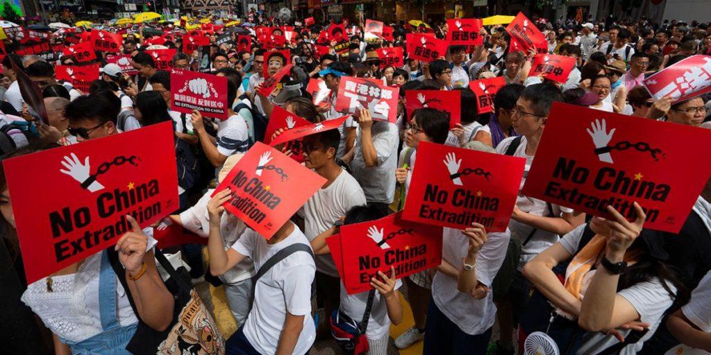 Première manifestation politique de chrétiens à Hong-Kong