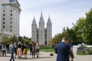 Temple square à Salt Lake City,