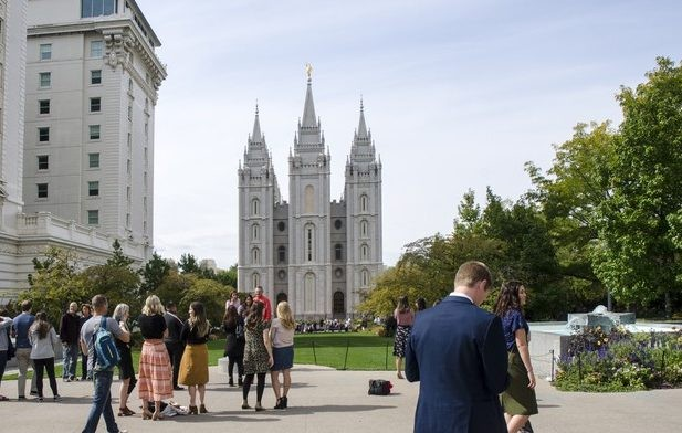 Temple square à Salt Lake City,