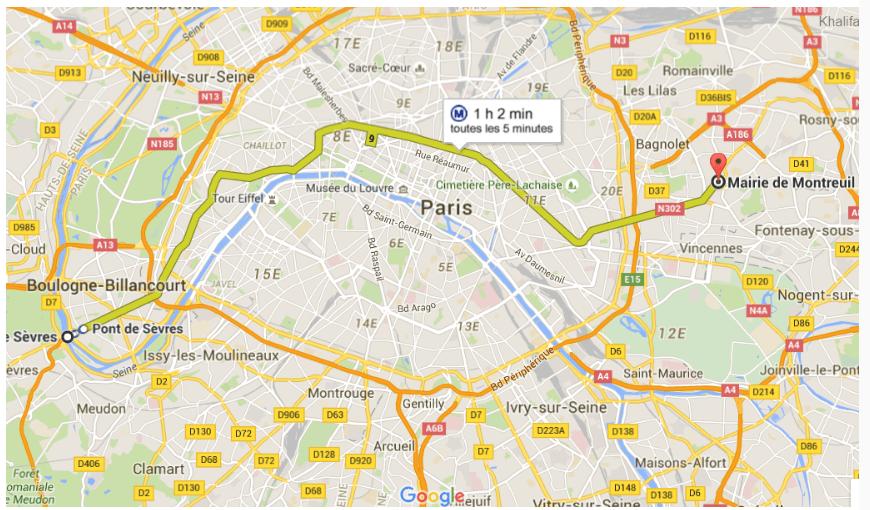 D'un Paris à l'autre en un seul trajet de métro