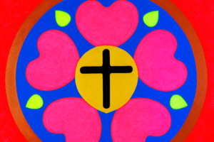 La rose de Luther version Pop art !