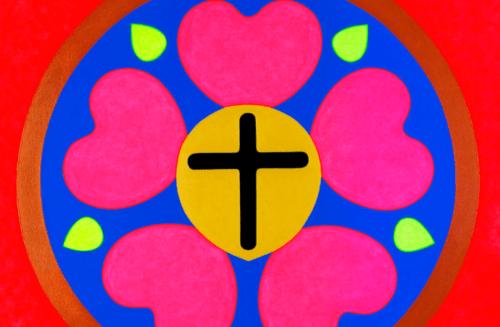 La rose de Luther version Pop art !