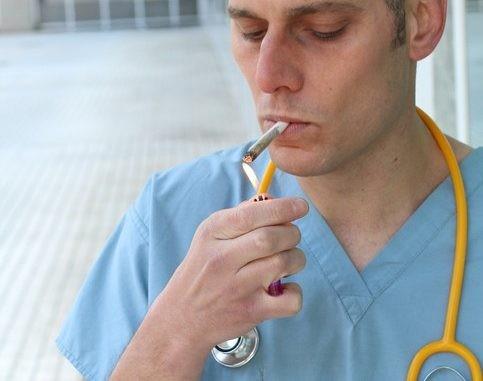 La cigarette à l'hôpital