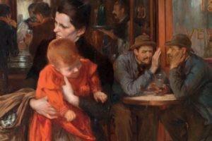 Jules Adler, La Mère, Paris, 1899, Huile sur toile ; Poznan, fondation Raczyński du musée national © ADAGP, Paris 2019