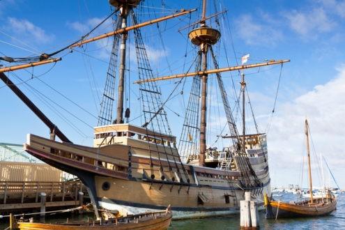 Une réplique du bateau le Mayflower