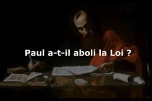 Paul, la foi et la loi