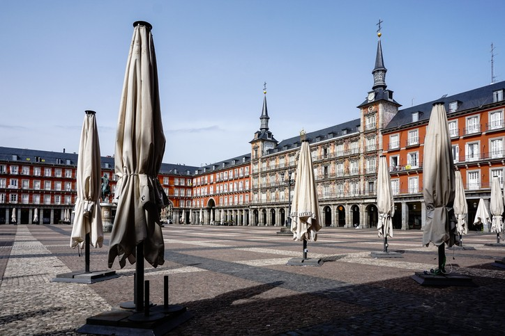 Madrid vide au temps du coronavirus